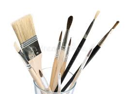 glass with paint brushes stock image image of group 29751227