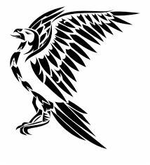 Dibujos animados unicornio en la luna. Drawn Hawk Tribal Dibujo En Blanco Y Negro De Un Aguila Transparent Png Download 327980 Vippng