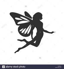 Fairy Logo Design Flying Fairy Silhouette Vector Character Graphic Logo Design