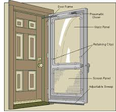 combination screen storm doors
