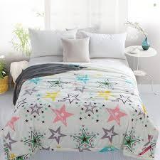 Fashion Summer Quilt Thin Twin/Full/Queen/King Size Bed Coverlet ... & Fashion Summer Quilt Thin Twin/Full/Queen/King Size Bed Coverlet Stars Blue Adamdwight.com