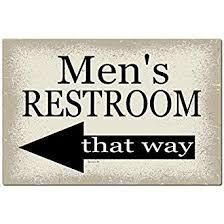 Bathroom sign with arrow Cool Amazoncom Dyenamic Art Mens Bathroom Sign 12x8 Metal Sign Home Decor Wedding Decor Restaurant Sign Pool Sign Industrial Scientific Amazoncom Amazoncom Dyenamic Art Mens Bathroom Sign 12x8 Metal Sign Home