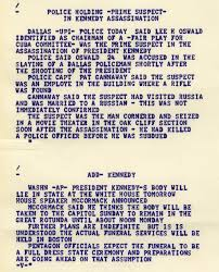 the assassination of john f kennedy gilder lehrman  dow jones news service ticker tape from the day john f kennedy was assassinated 22 1963