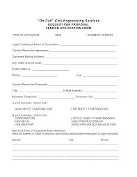 Vendor Setup Form Template Registration Word Request Letter Apvat Info