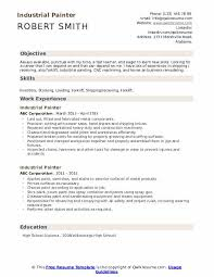 House Painter Resume Industrial Painter Resume Samples Qwikresume