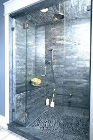 stone shower wall panels bathroom remodeling gray wall glass shower cabin partition walls white storage under
