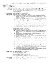 Logistics Resume Objective Examples Free Resume Example And
