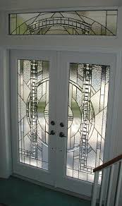 contemporary stained glass door