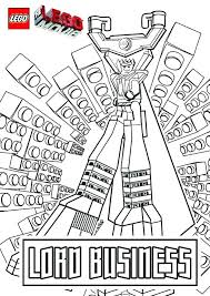 Lego Movie Coloring Page The Movie Coloring Pages Lord Business Lego
