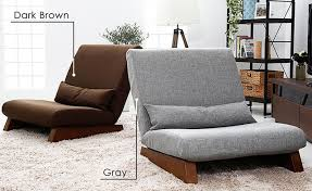 Floor Folding Single Seat Sofa Bed Modern Fabric Japanese Living Room  Furniture Armless Lounge Recliner Occasional