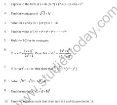 cbse class 11 complex numbers and