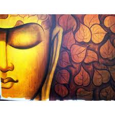 half buddha painting copper n gold