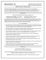 Restaurant Manager Resume Sample Monster Throughout Building A