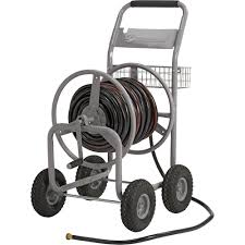 strongway garden hose reel cart holds 5 8in x 400ft hose