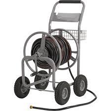 strongway garden hose reel cart holds 5 8in x 400ft hose