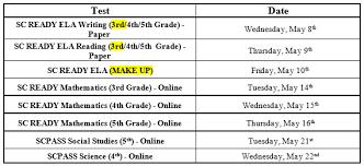 ensa testing schedule
