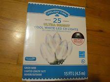 c9 led christmas lights new holiday 25 led c9 christmas lights cool white 14ft indoor outdoor green wire