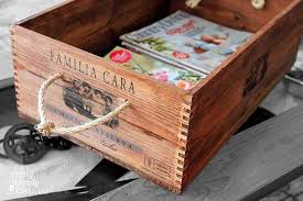 wine box furniture. view in gallery repurposed wood wine crate magazine holder box furniture