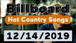 Billboard Top 50 Hot Country Songs December 14 2019