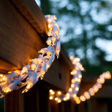 Indoor Christmas Lights White Wire 18 Garland Lights 600 Clear Lamps White Wire String