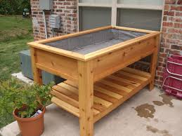raised planter box garden