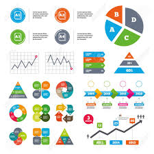 Data Pie Chart And Graphs Paper Size Standard Icons Document