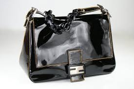 black patent leather mamma handbag previous