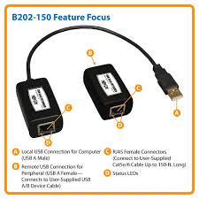 tripp lite b202 150 usb over cat5 extender usb a a male female b202 150 feature focus