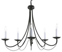 versailles wrought iron with 5 light chandelier black transitional