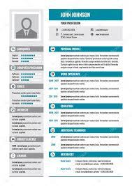 Modern Resume Formatg Resume Cv Vector Concept Layout In A4 Format Business Resume
