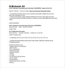 Make Resume Free Extraordinary HVAC Resume Template 48 Free Word Excel PDF Format Download