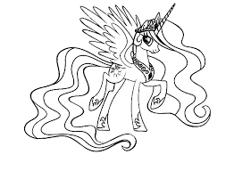 Princess luna coloring page | free printable coloring pages. Print Download My Little Pony Coloring Pages Learning With Fun