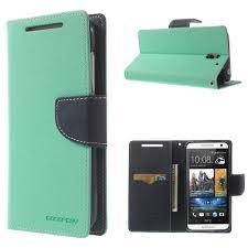 HTC Desire 610 Cyan Fancy Wallet Case