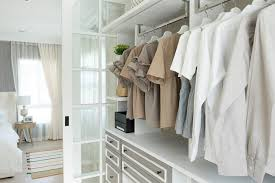 walk in wardrobe hanging space with blouses
