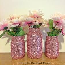 Mason Jar Decorations For Bridal Shower Mason Jars Rose Gold baby shower ideas baby shower decorations 25