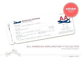 Airline Ticket Template Word Inspiration Airline Tickets Template Design Vector Plane Ticket Invitation