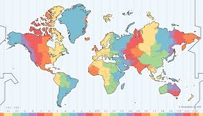 World Map Chart Maker Time Zone Map