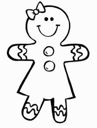 Small Picture Black and White Gingerbread Girl Teachers CLIP ART and