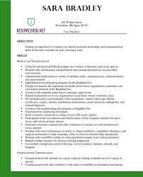 Veterinary Assistant Resume Examples Amazing Vet Assis Assistant Resume Great Format Swarnimabharathorg