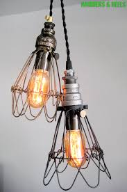 Industrial Cage Work Light Chandelier Industrial Cage Work Light By Hammers Heels Lighting