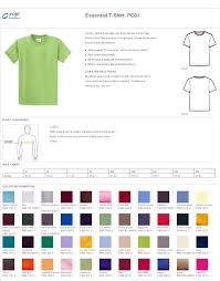 T Shirt Size Charts True To Size Apparel