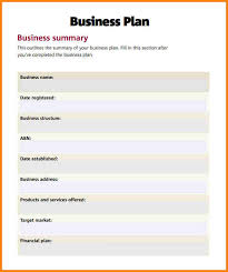 small business plan outline business plan outline small business plan template how to write