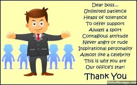 Thank You Message To Boss Thank You Message For Boss Appreciation Notes Phrases Note