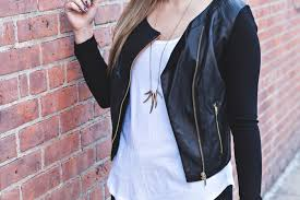 womens black leather jacket with gold zipper cairoamani com