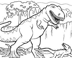 Small Picture T Rex Hunting for Smaller Dinosaurus Coloring Page Color Luna
