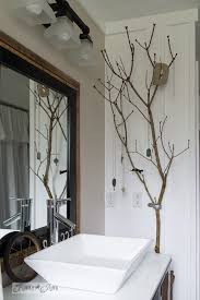 funky bathroom furniture. Branch Jewelry Holder In Bathroom / Salvaged Farmhouse Makeover Via Http://www Funky Furniture D