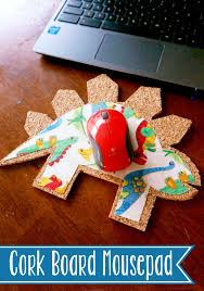 make homework and study time more fun with this diy cork board mousepad it s super