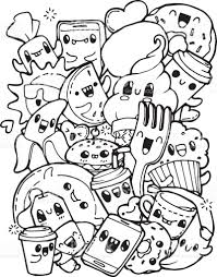 Small Picture Dining Doodles Breakfast Lunch Dinner Food Coloring Pages For Kids
