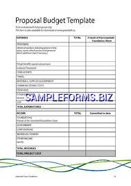 simple budget proposal template budget proposal template samples forms