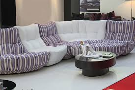 ... Sofa, White Purple Stripped Design Of Most Comfortable Sofa 2016  Homesfeed With Round Coffee Table ...